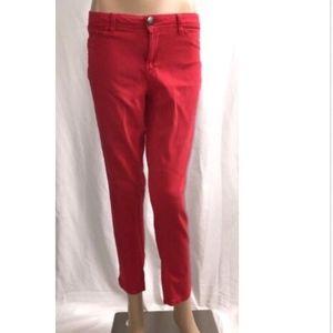 Like An Angel Skinny Jeans Size 7 Red Stretch